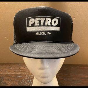 Petro Black Polyester Foam Mesh Snapback Hat
